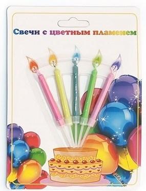 Свечи с цветным пламенем - фото 7202