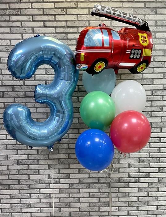 Набор из воздушных шаров «Пожарная машина» - фото 7215