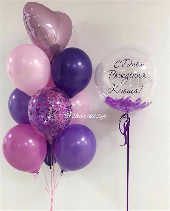 Набор воздушных шариков  «С днём рождения» - фото 7224