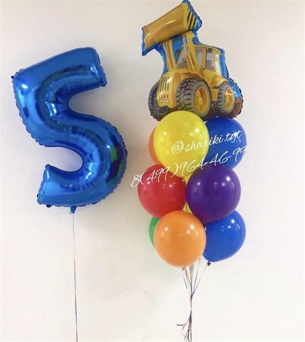 Набор из воздушных шаров «Экскаватор» - фото 7234