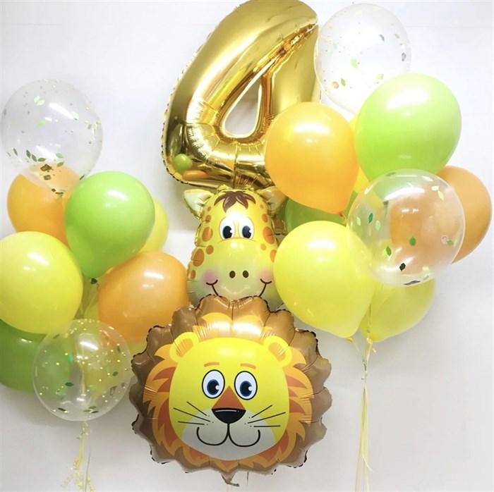 Набор из воздушных шаров на день рождения «Яркое сафари» - фото 7243