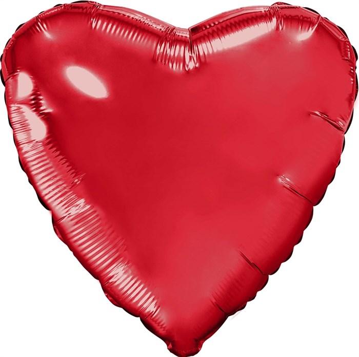 """Воздушный шарик большое фольгированное сердце """"Красное"""" - фото 7277"""