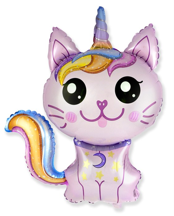 "Воздушный шар фигура ""Котёнок единорог"" - фото 7345"