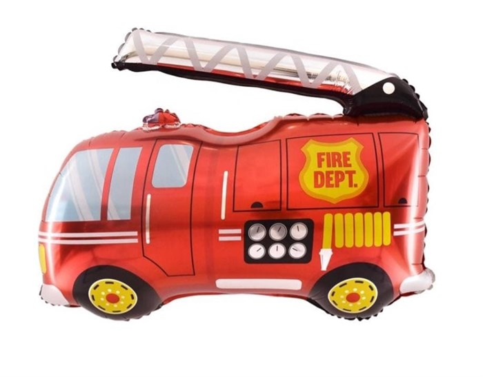 Пожарная машина на палочке - фото 7431