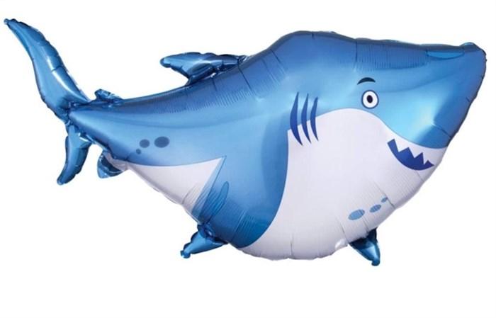 "Шарик ""Маленькая акула на палочке. - фото 7434"