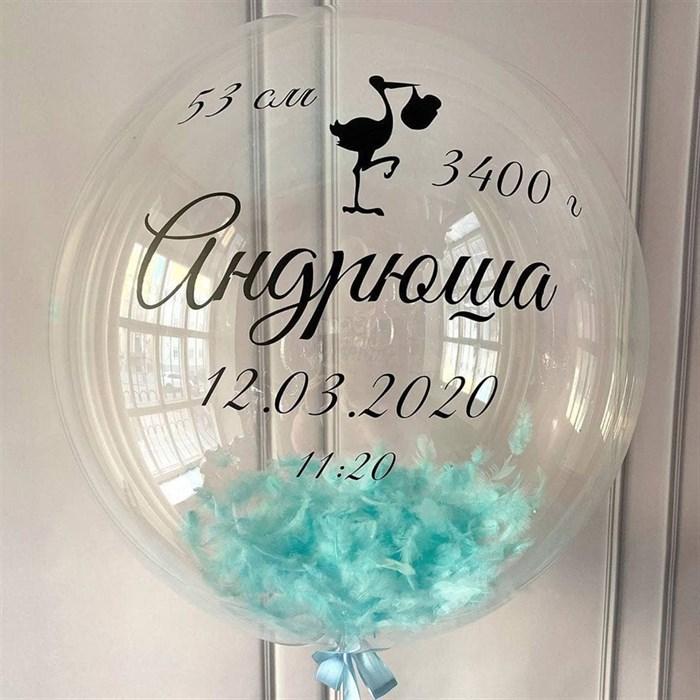 Воздушный шар баблс на выписку из роддома - фото 7504