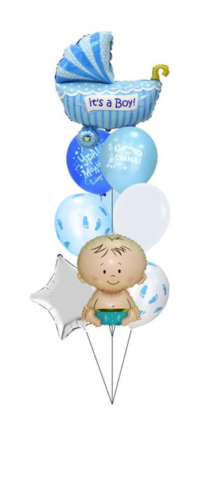 Воздушные шары на выписку мальчика - фото 7527