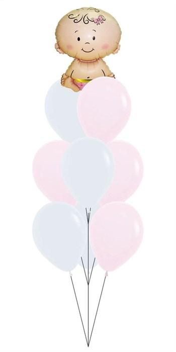 Набор шаров на выписку из роддома. Девочка - фото 7544