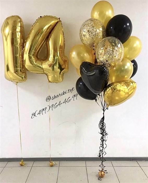 Набор воздушных шаров на 14 лет - фото 7584