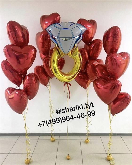 Композиция из воздушных шаров для любимой «Выходи за меня» - фото 7604