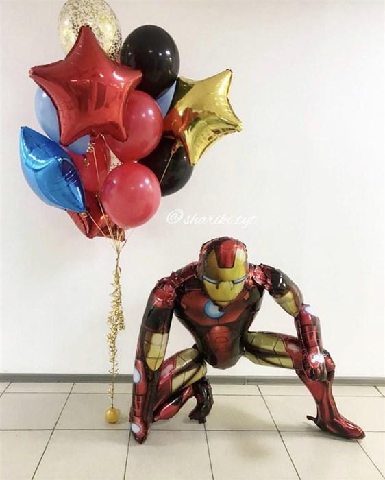 Набор воздушных шаров на день рождения «Железный человек» - фото 7617