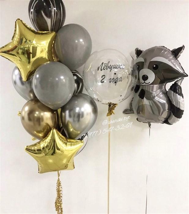 Шары на день рождения «Енот» - фото 7621