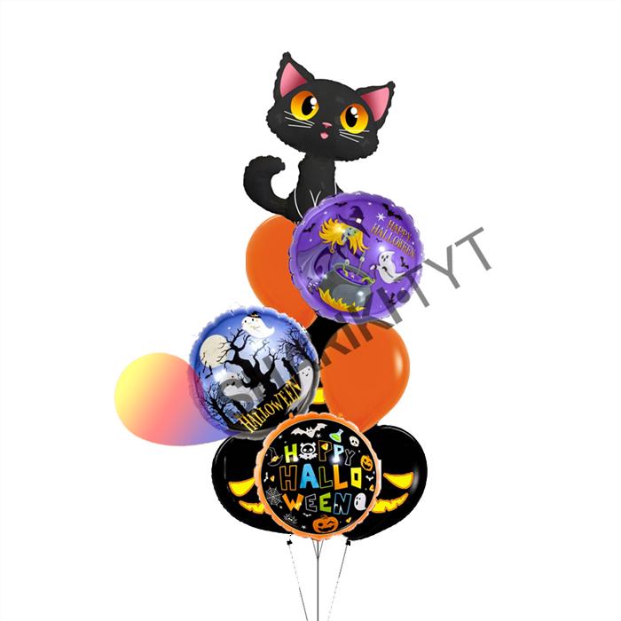 Воздушные шары на Хэллоуин «Мяу» - фото 7662