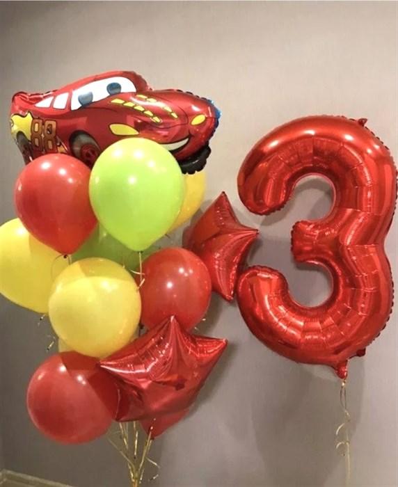 Набор шаров для мальчика «Гоночная машина» - фото 7666