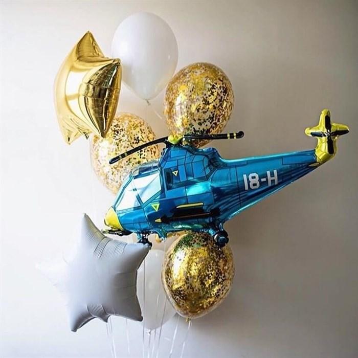 Связка воздушных шаров «Вертолёт» - фото 7668
