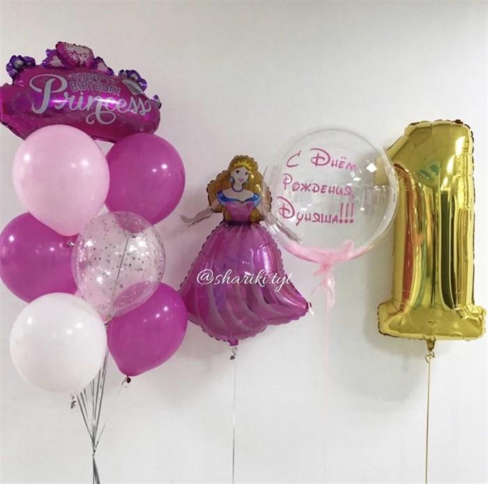 Набор воздушных шаров для принцессы - фото 7677