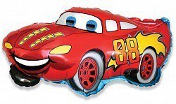 """Воздушный шар фольгированный """"Гоночная машина"""" красный."""