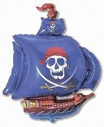"""Воздушный шар фигура """"Пиратский корабль""""Ассорти"""
