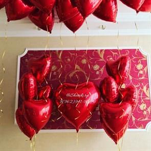 Композиция из воздушных шаров для любимой на 14 февраля