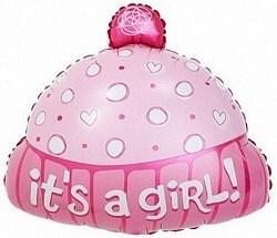 """Воздушный шар на выписку из роддома """"Шапочка для девочки"""" 48 см"""