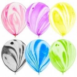 """Латексный воздушный шар 30 см мраморный """"ассорти"""""""