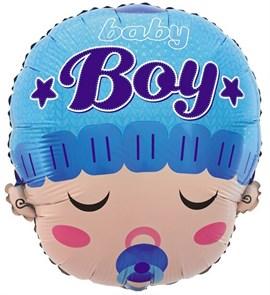 """Воздушный шар фигура новорожденный """"Мальчик с соской"""""""