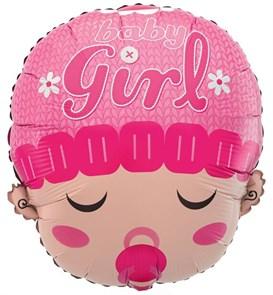 """Воздушный шар новорожденный """"Девочка с соской"""""""