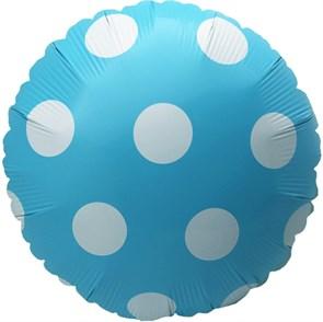 """Воздушный шар круг 46см """"Горошек"""""""