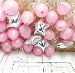 """Воздушные шары под потолок """"розовое облако"""""""
