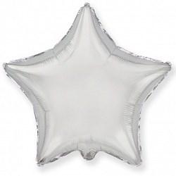 """Воздушный шар звезда 46 см """"Серебро"""""""