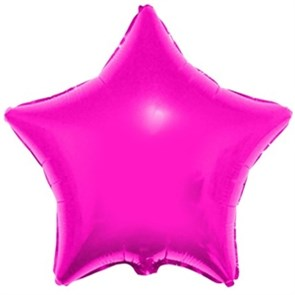 "Воздушный шар звезда 46 см ""Фуше"""