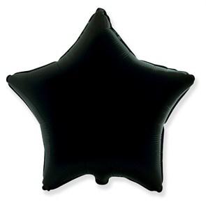 """Воздушный шар звезда 46 см """"Черный"""""""