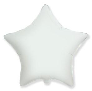 """Воздушный шар звезда 46 см """"Белый"""""""