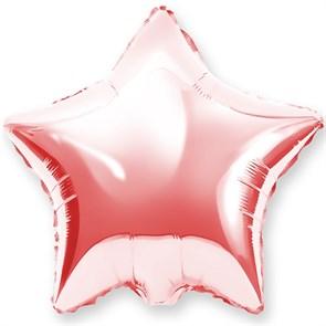 """Воздушный шар звезда 46 см """"Розовое золото"""""""