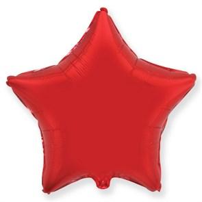 """Воздушный шар звезда 46 см """"Красный"""""""
