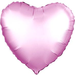 """Воздушный шар сердце 46 см """"Розовый сатин"""""""