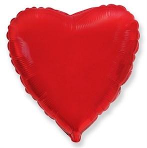 """Фольгированный воздушный шар сердце 46 см """"Красный"""""""