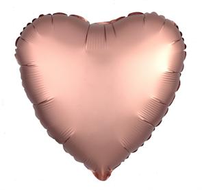 """Воздушный шар сердце 46 см """"Розовое золото"""""""