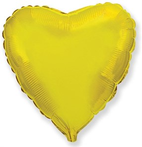 """Фольгированный воздушный шар сердце 46 см """"Золото"""""""