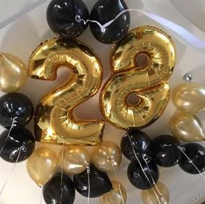 """Воздушные шарики на день рождения """"Золотое небо"""""""