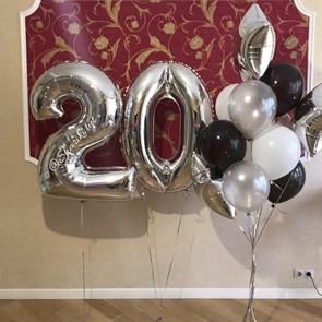 """Композиция из воздушных шаров на день рождения """"Блеск"""""""