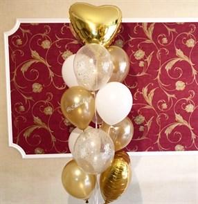 """Букет из воздушных шариков на праздник """"Золотое сияние"""""""
