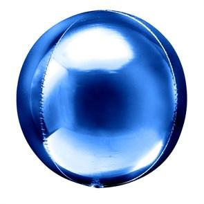 Фольгированный воздушный шар 3D сфера (Синий)