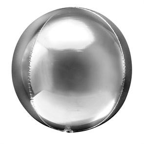 Фольгированный воздушный шар 3D сфера (серебро)