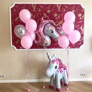 """Набор воздушных шаров для детей """"Розовый единорог """""""