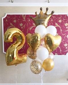"""Композиция воздушный шаров для девочки """"Маленькое королевство"""""""