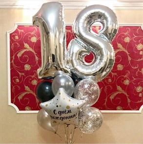 Воздушные шары на день рождения с цифрами