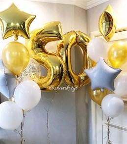 Набор воздушных шаров на юбилей.