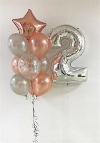 Набор воздушных шаров с цифрой.