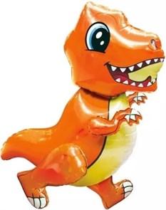 """Воздушный шар """"Маленький динозавр"""" оранжевый"""